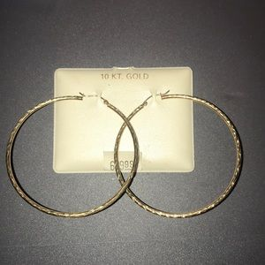 Jewelry - 10K Large Gold Hoops